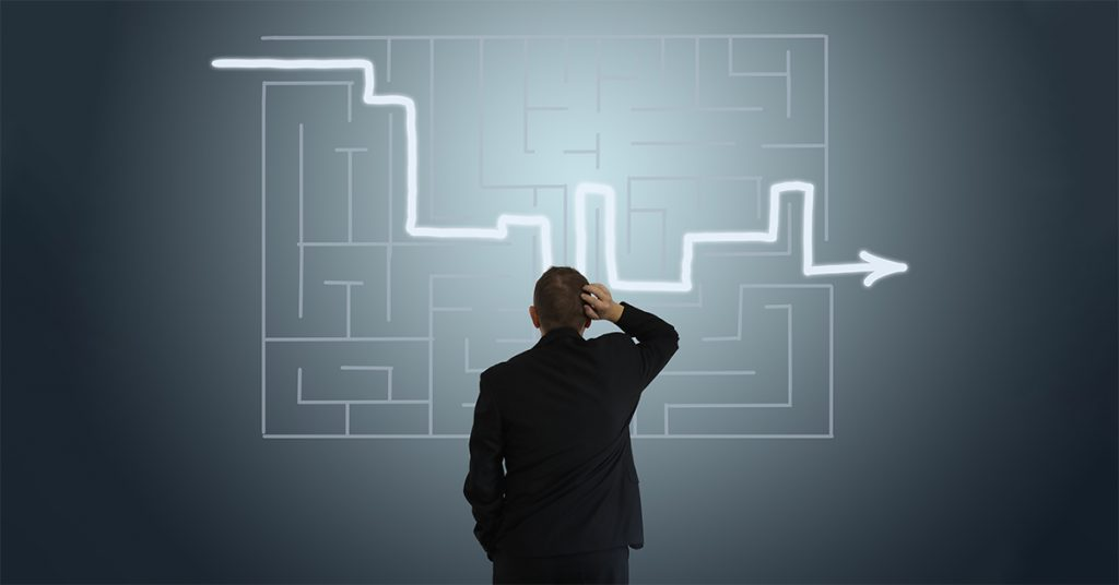 Executive puzzled by complex plan